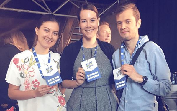 Zlatomira, Kelley, and Kasper at Facebook